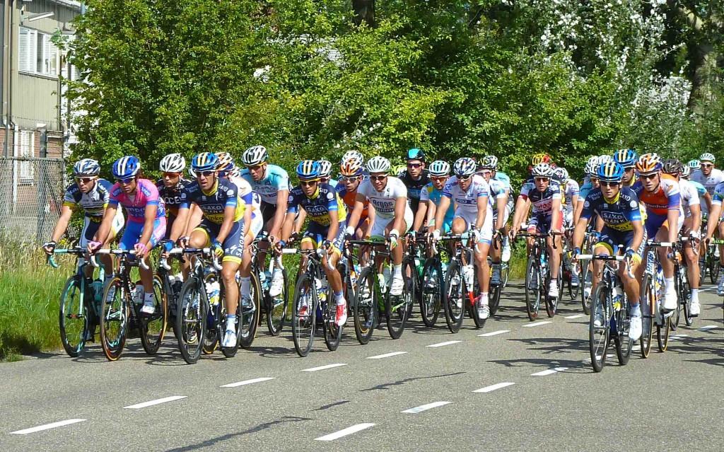 Toeval bestaat niet: het  profpeloton van de EnecoTour kwam op maandag 6 augustus 2012 bij Broikes voorbij. (c) Broikes.
