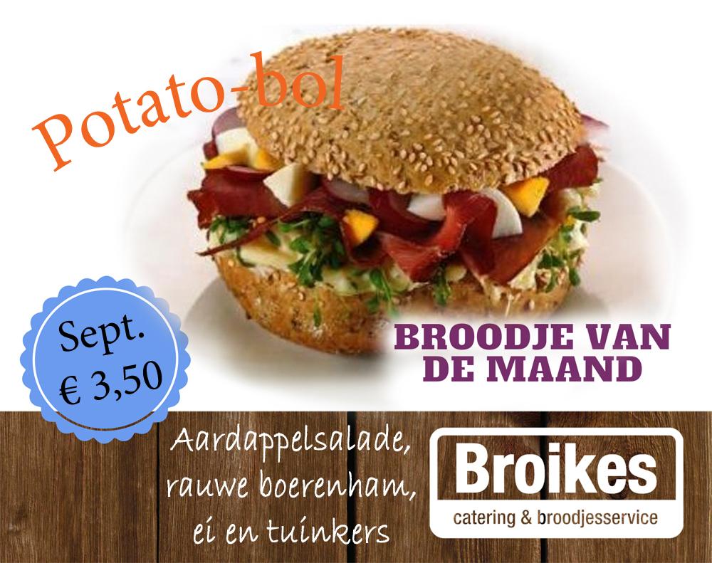 Potato-bol: broodje van september